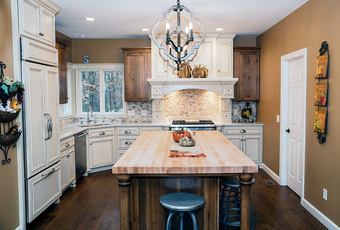 White Painted Maple & Rustic Hickory Kitchen - Randall ...