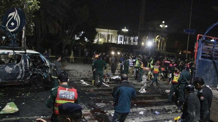 Image result for 13 Dead After Lahore Blast at Rally