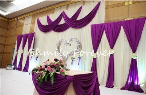 White & Purple Backdrops for wedding ceremony   Purple