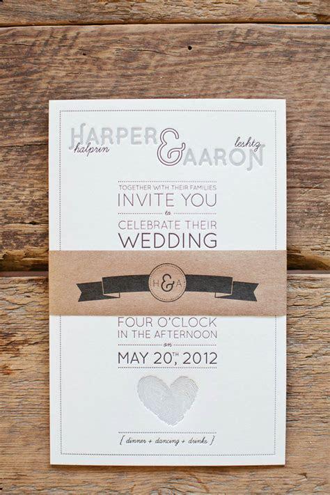 Aaron   Harper's Fingerprint Heart Wedding Invitations