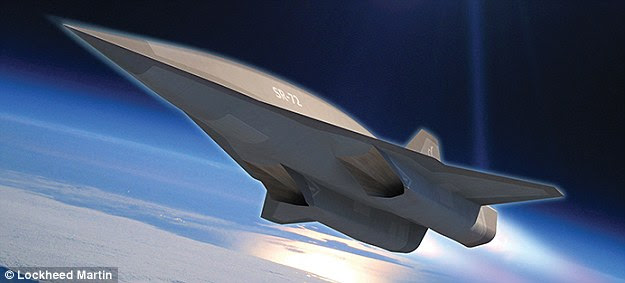 Lockheed Martin's Skunk Works - builder of the Mach 3.5 SR-71 Blackbird spyplane - has unveiled plans to develop a successor, dubbed the SR-72, pictured