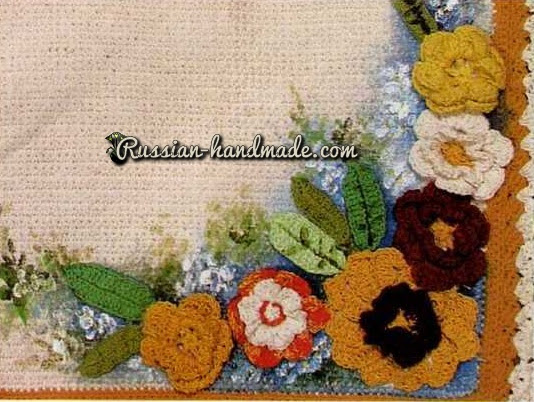 Flower bath mats.  Crochet (4) (534x402, 255Kb)