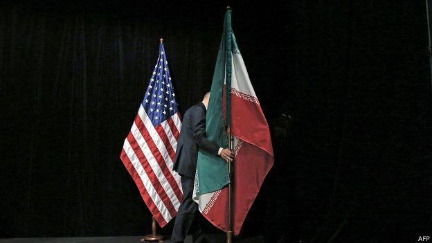 Banderas EEUU, Irán