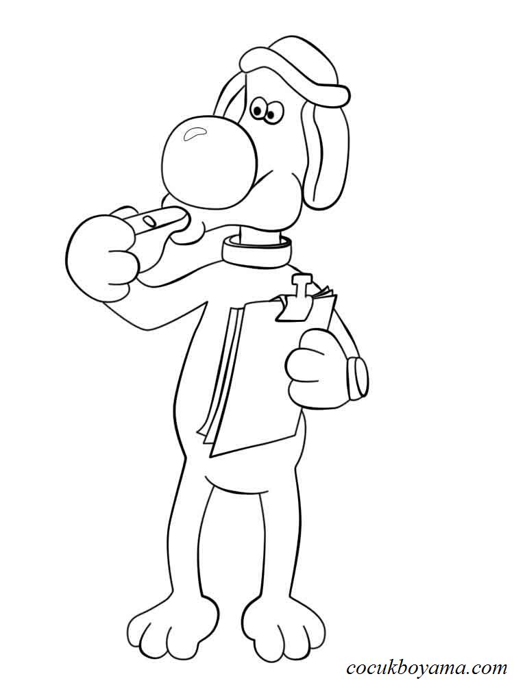 Shaun The Sheep 6 ücretsiz Boyama Resimleri