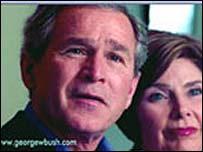 George W. Bush og Laura Welch Bush