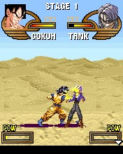 Ponsel permainan Dragon Ball Z Saiyan Fighters - screenshot.  Gameplay Dragon Ball Z Saiyan Fighters