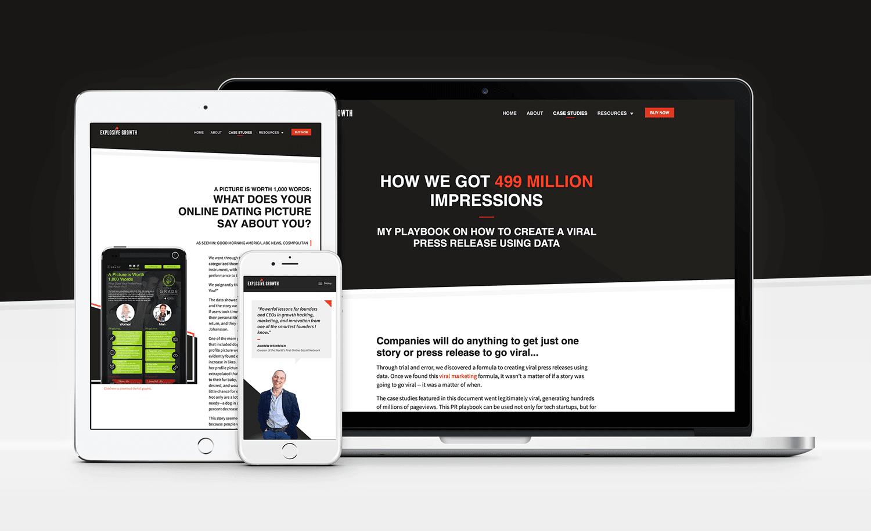 Book Marketing Website