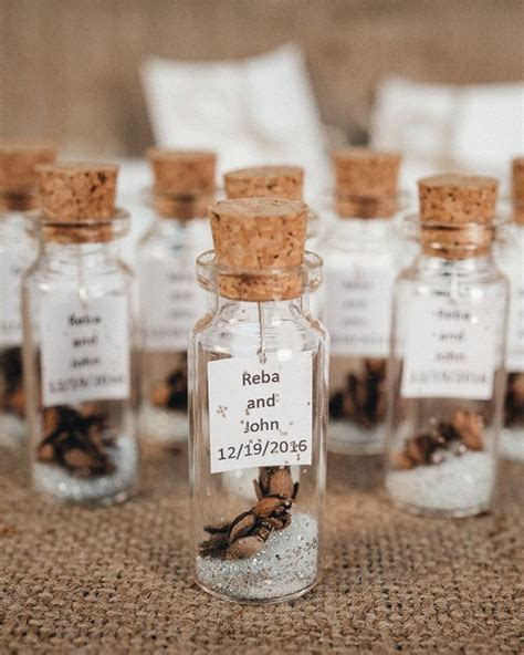 Wedding favors for guests Message in a bottle Rustic