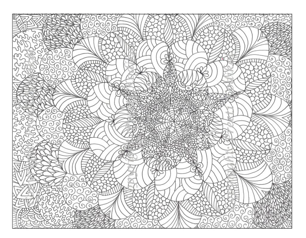 Free Printable Abstract Coloring Pages for Adults - Coloring Pages