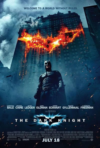 The newest theatrical poster for THE DARK KNIGHT.