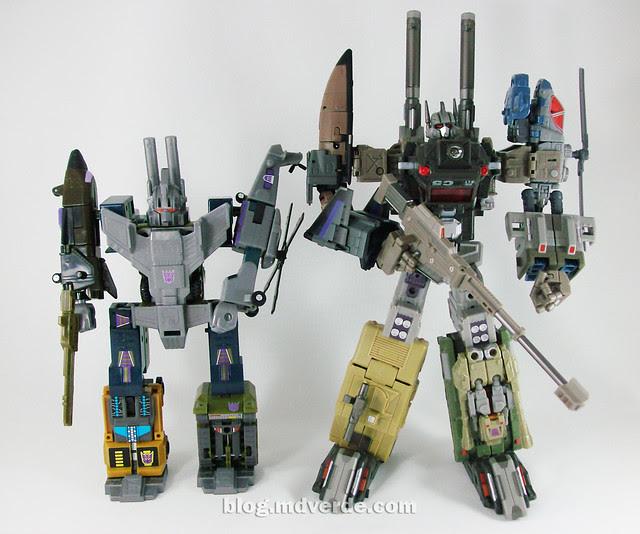 Transformers Bruticus Maximus Universe (FansProject Crossfire Ugraded) - modo combinado vs Bruticus G1 Encore