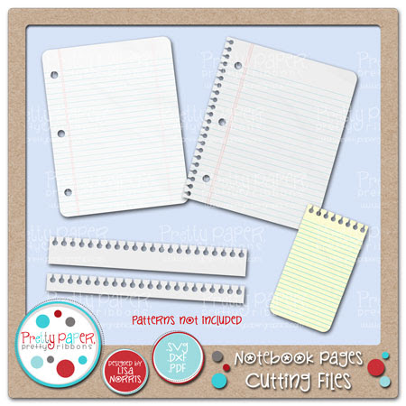 Notebook Pages Cutting Files