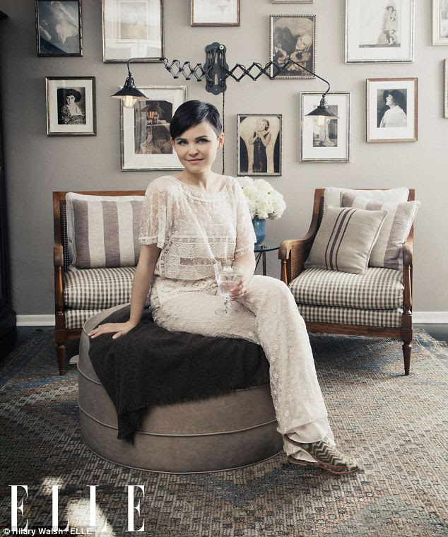 Fairytale pad: Ginnifer Goodwin, who plays Snow White in ABC's Once upon a Time, opened up her two-bedroom Whitely Heights home in the Hollywood Hills