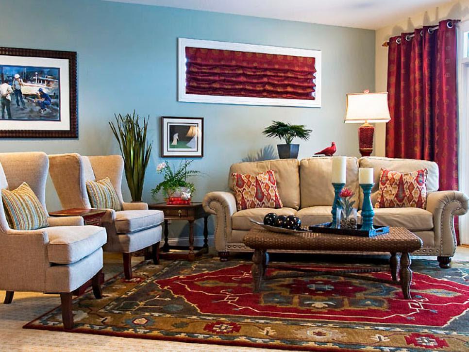 Casual, Eclectic Family Room | Sandy Kozar | HGTV