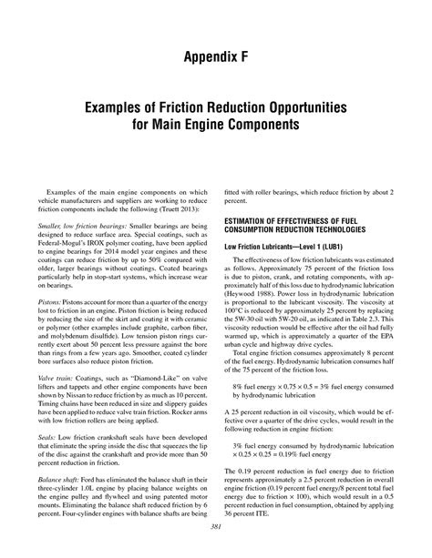 Appendix F: Examples of Friction Reduction Opportunities