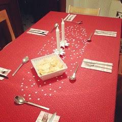 Table is set for Christmas Eve dinner. :-) #godjul #glædeligjul