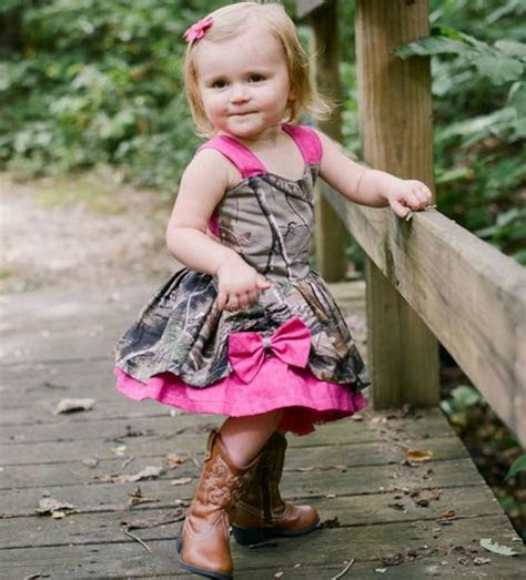 Lovely Camo Baby Girl Dresses 2016 Fushia Straps Bowknot