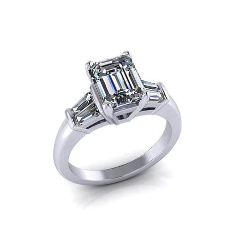 Baguette Emerald Cut Engagement Ring   Jewelry Designs