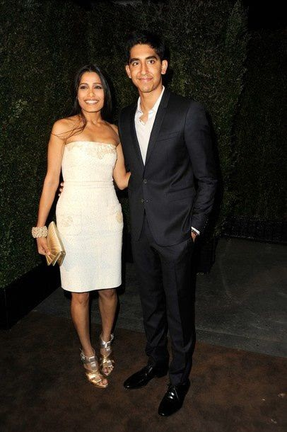 Freida Pinto & Dev Patel at the dinner Chanel & Charles Finch.
