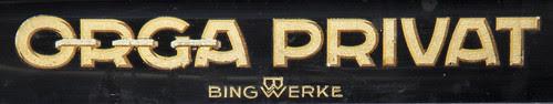 Orga Privat typewriter logo