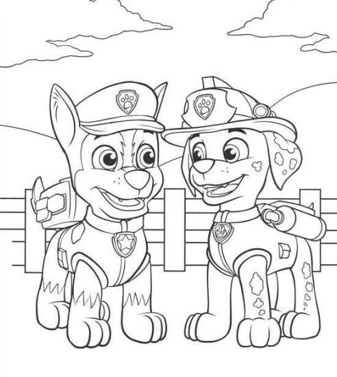 Dibujos De La Patrulla Canina Para Colorear Los Mejores
