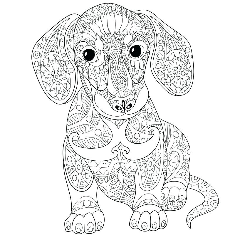 Dachshund Coloring Pages Printable at GetColorings.com ...