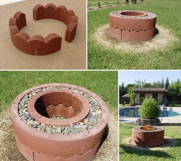 Homemade backyard fire pit ideas