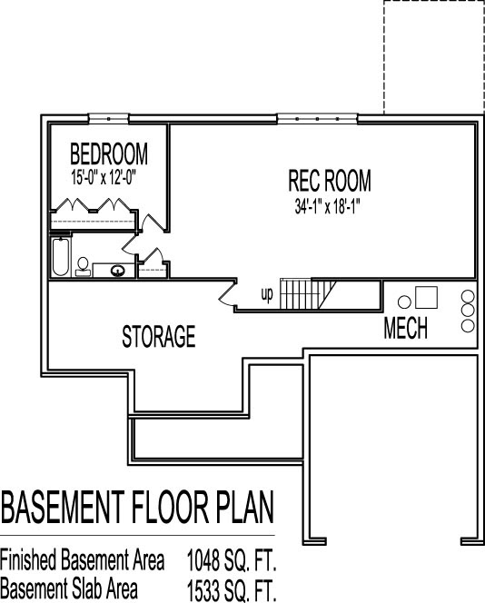 Simple House Floor Plans 3 Bedroom 1 Story With Basement Home Design
