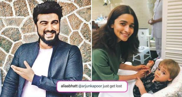 Arjun Kapoor Makes Fun Of Alia Bhatt, She Asks Him To Get Lost