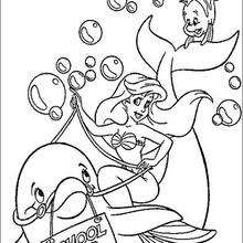 King triton and ariel coloring pages - Hellokids.com