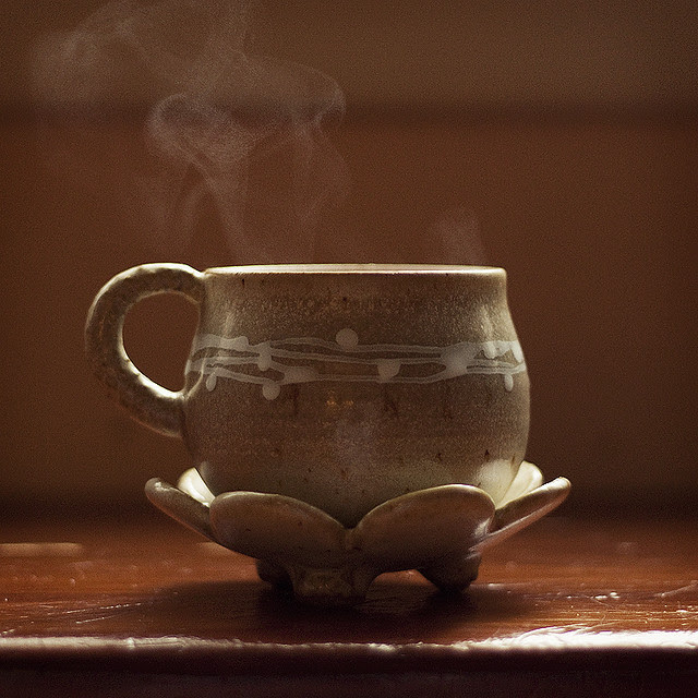 warm cup.