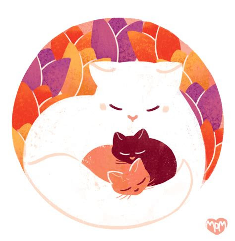 daily cat drawings  happy mothers day todays