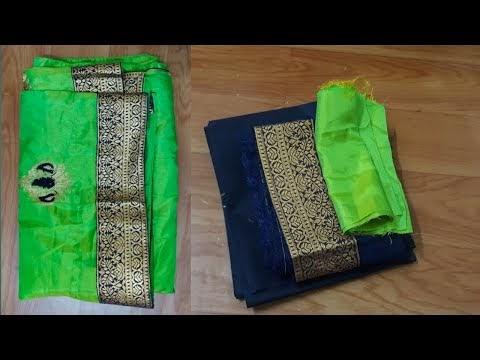 paithani saree blouse design cutting and stitching back neck