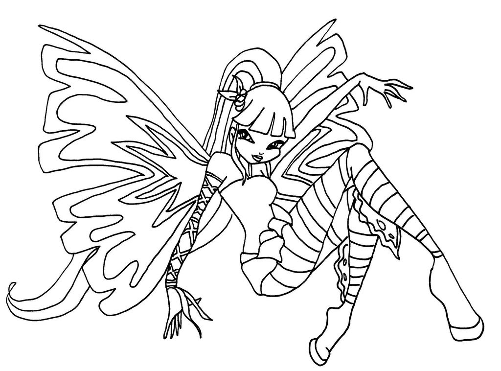 Winx Club Coloring Pages Musa Eskayalitim
