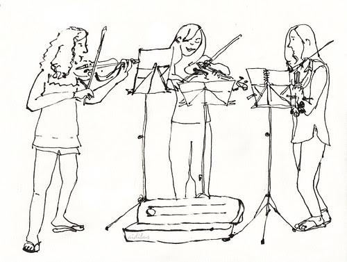 Trio de violinistas by aidibus