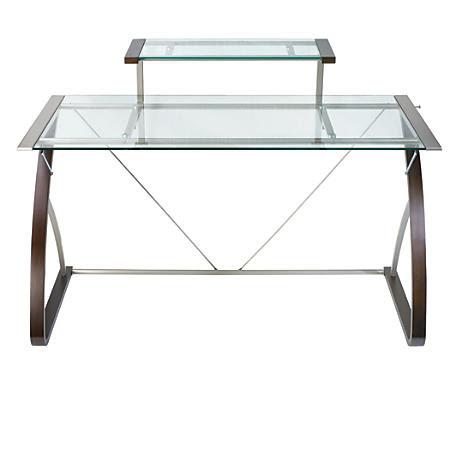 Wooden Cabinets Vintage Office Depot Glass Desk