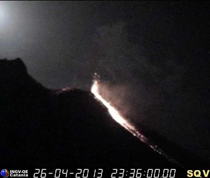 Capture d'écran de la webcam INGV Q400 de Stromboli