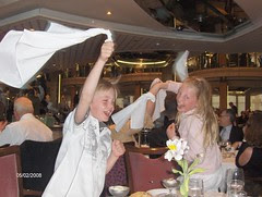 Jensen kids having fun