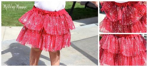 MWM Red 2 tier Halloween Skirt Oct 2012 6