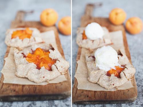whole wheat apricot tarts