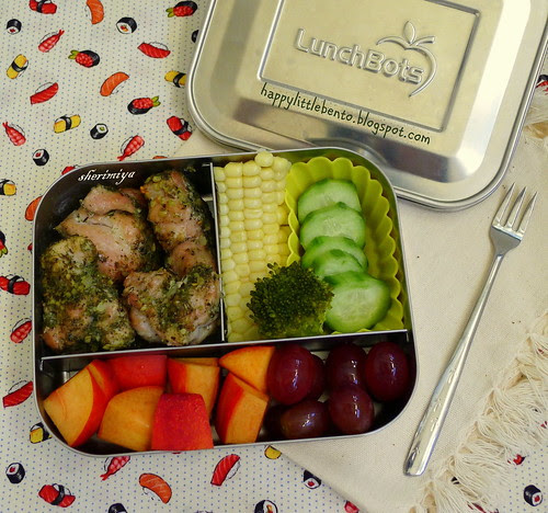 Herby Chicken LunchBot Bento by sherimiya ♥