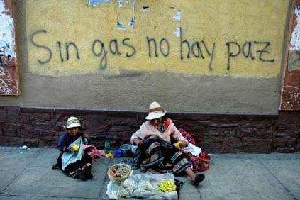 Potosinas que venden en La Paz