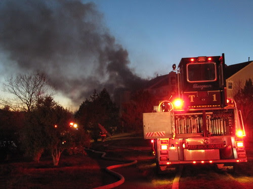 Truck 601 at the fire