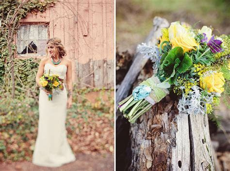 A Woodsy Bohemian Wedding: Brooke   Jason   Green Wedding