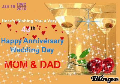 "HERE'S WISHING YOU A VERY : ""48th HAPPY ANNIVERSARY"