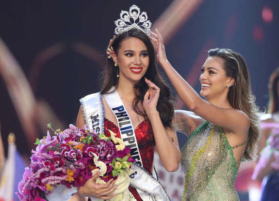 Miss Philippines Catriona Gray is crowned Miss Universe during the final round of the Miss Universe pageant in Bangkok, Thailand