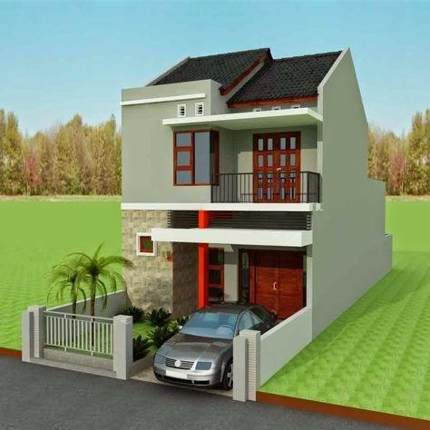 lahan sempit desain rumah tingkat minimalis