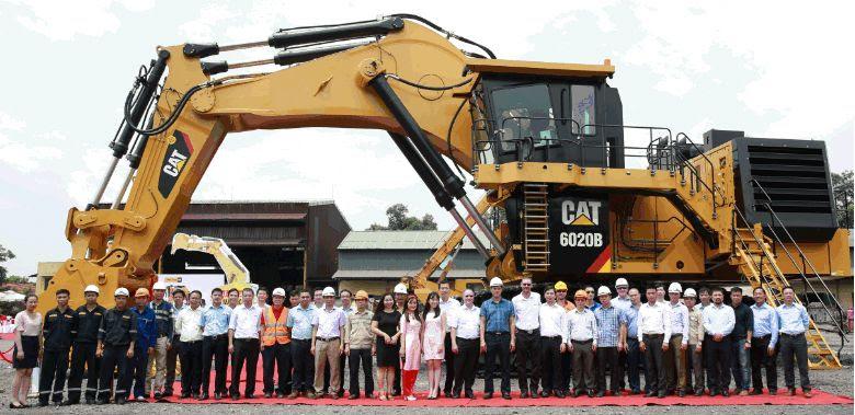 Biggest Hydraulic Mining Shovel Delivered To Vietnam Caterpillar