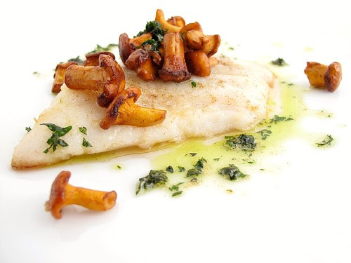 sole with chanterelles