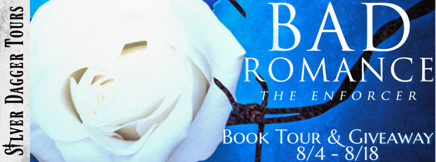 Book Tour Banner for the mafia romance The Enforcer from the Bad Romance series by Shanna Bell with a Book Tour Giveaway